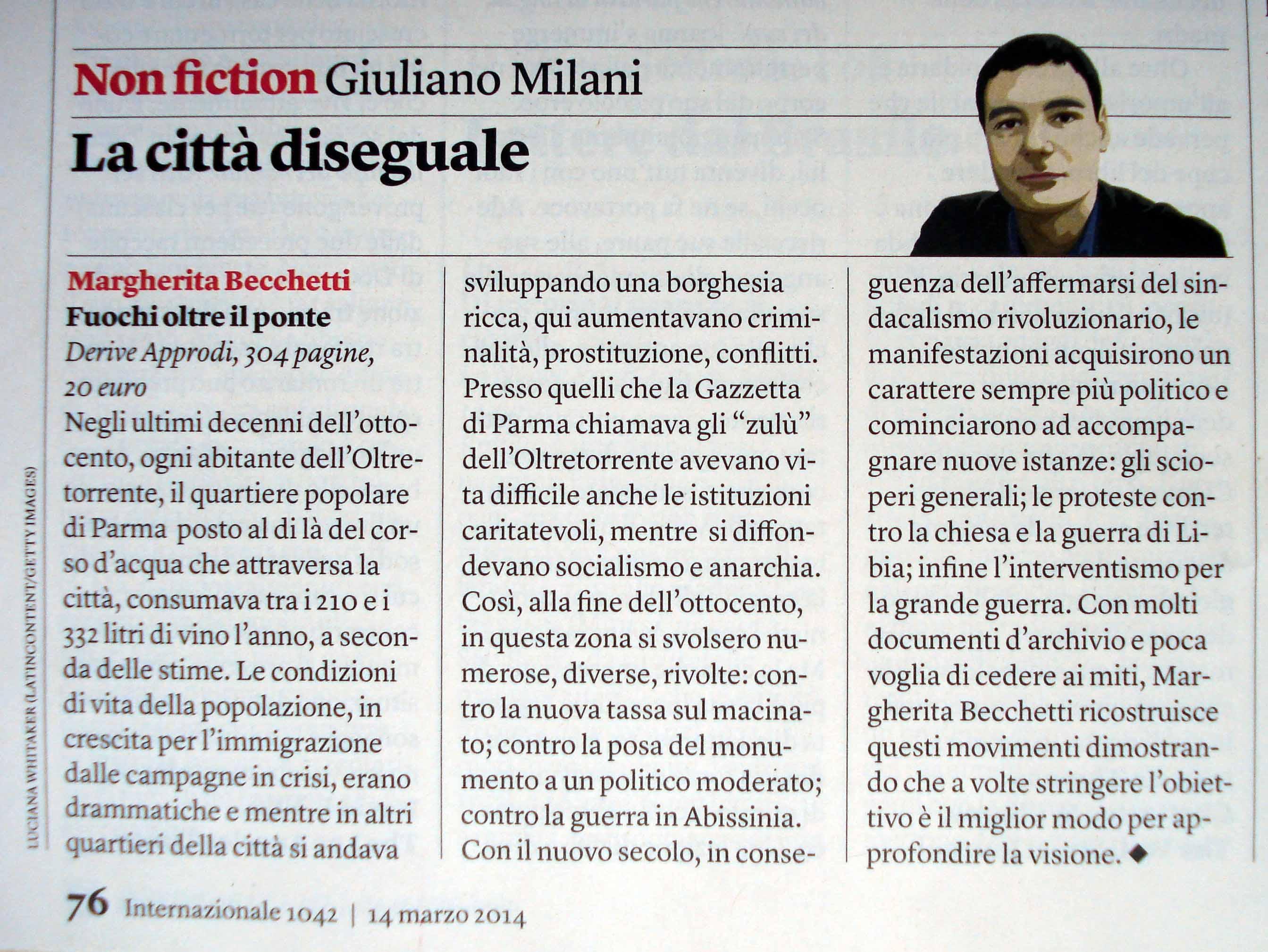 """Giuliano Milani, """"Internazionale"""", 14/20 marzo 2014."""