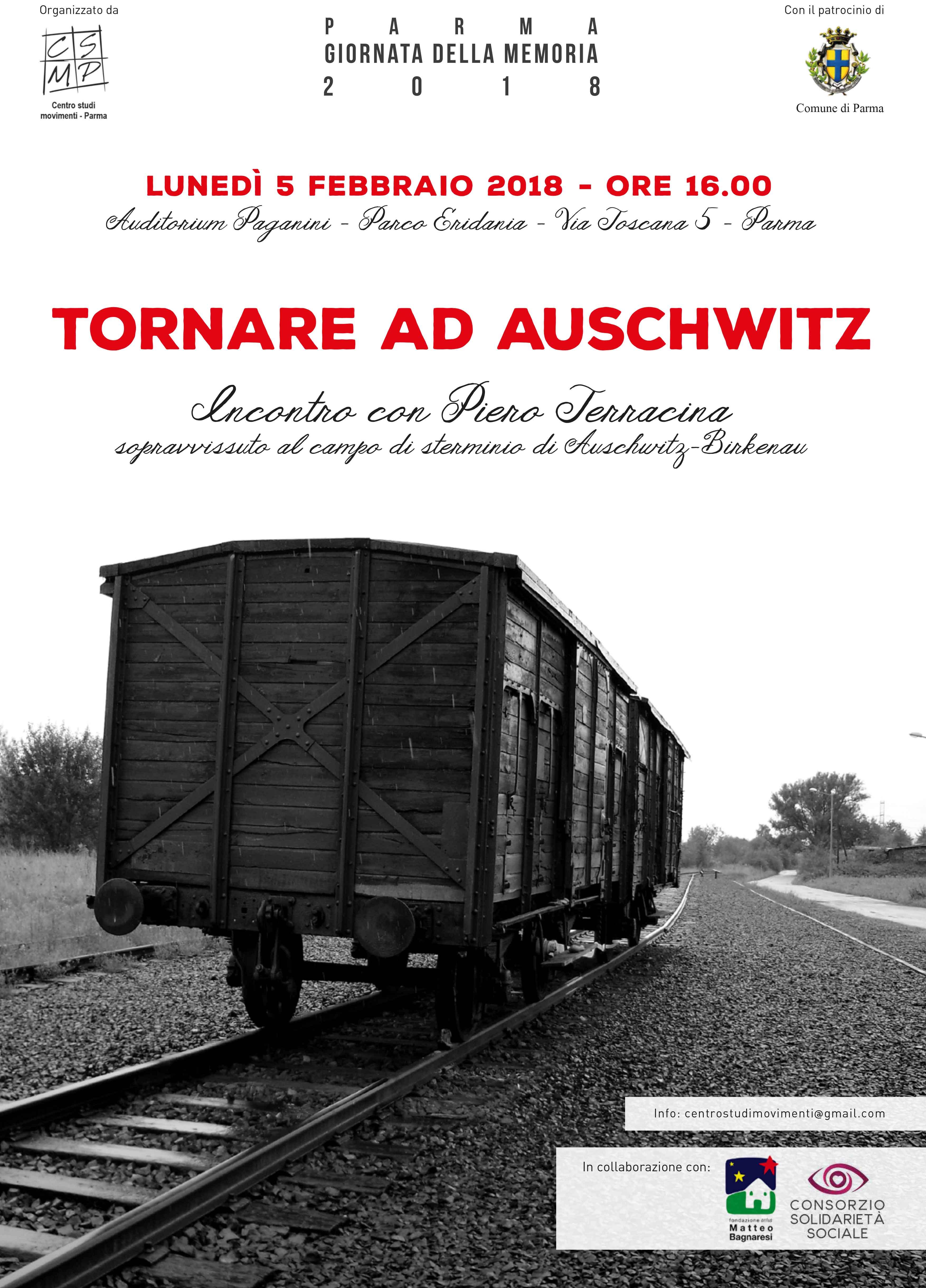 Tornare ad Auschwitz: incontro con Terracina – Lunedì 5 Febbraio 2018