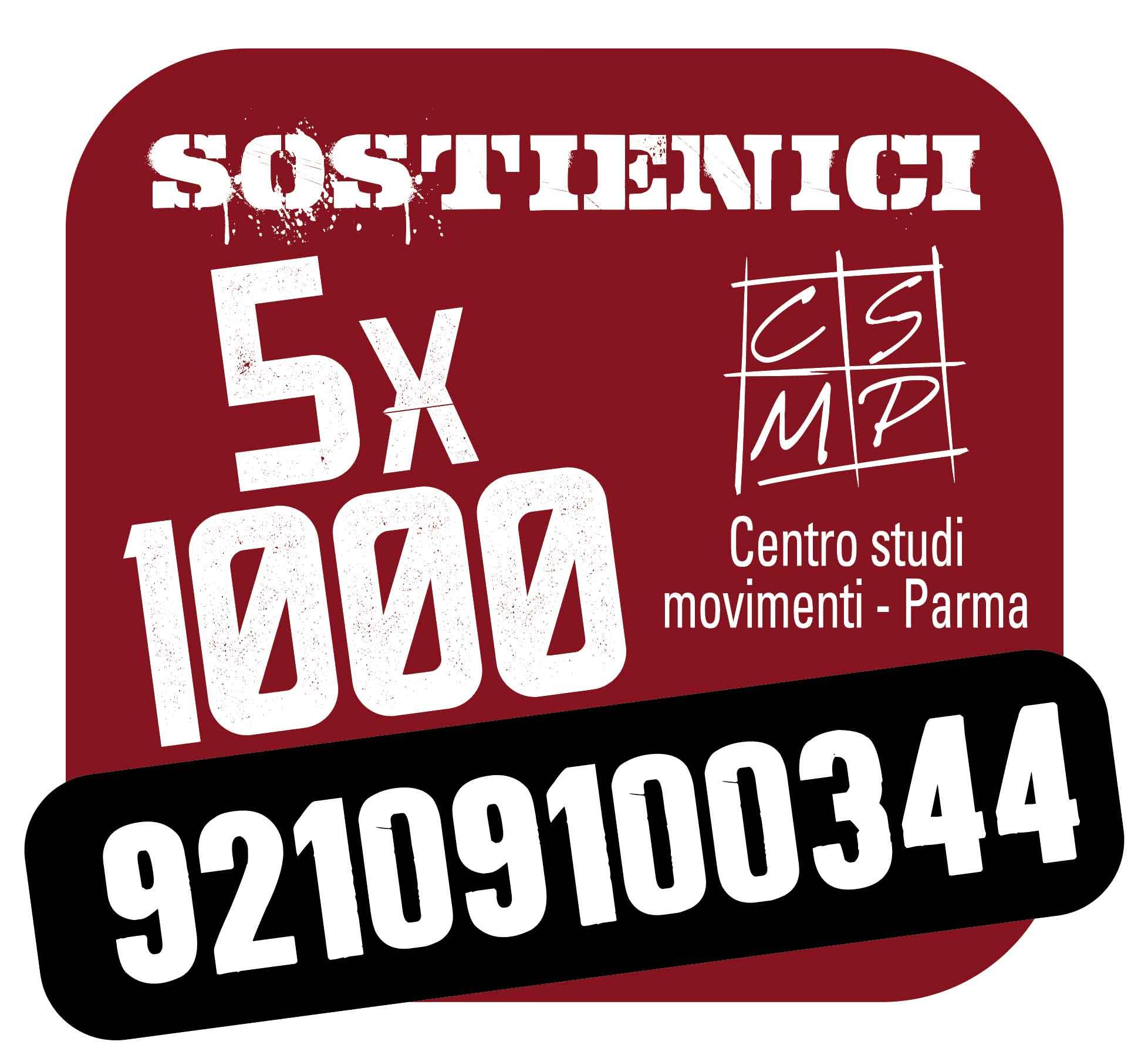Sostieni il Centro studi movimenti con il 5×100