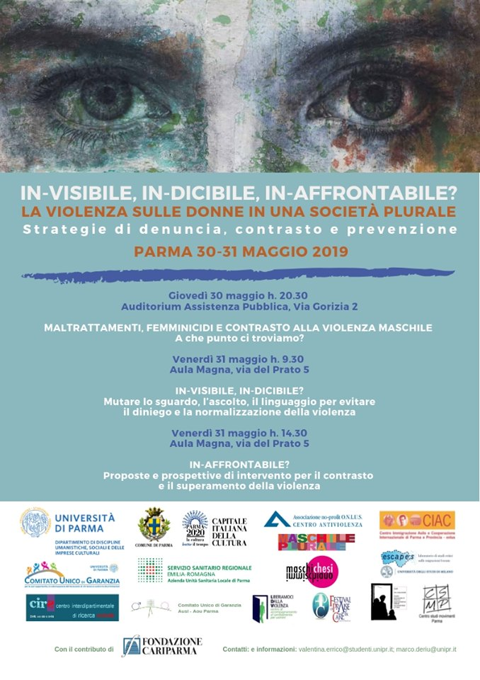 In-visibile, In-dicibile, In-affrontabile? La violenza sulle donne – 30/31 maggio 2019