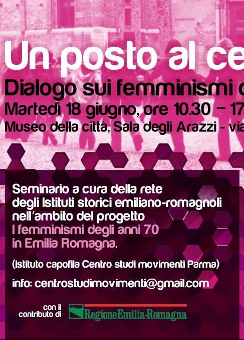 Un posto al centro. Seminario a Rimini – Martedì 18 giugno 2019