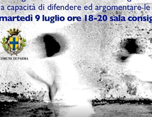 Il gioco delle idee. Consiglio comunale di Parma – Martedì 9 luglio 2019