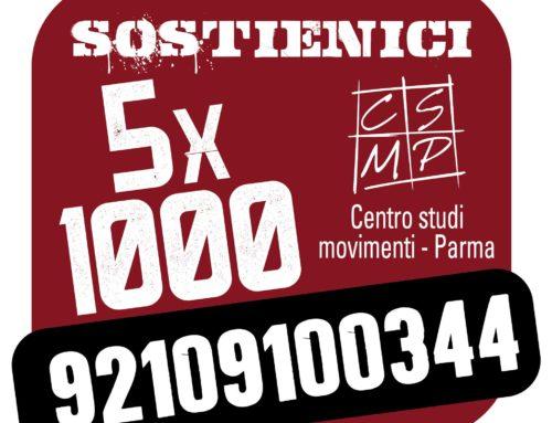 Sostieni il Centro studi movimenti con il tuo 5X1000